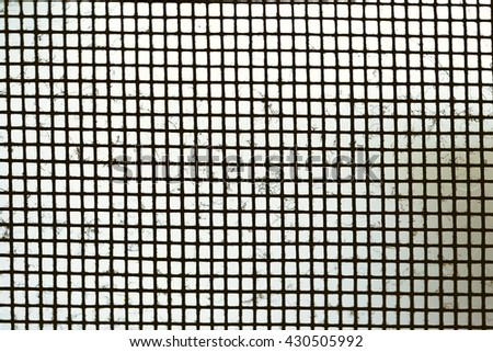 Close up dust on dirty mosquito wire screen