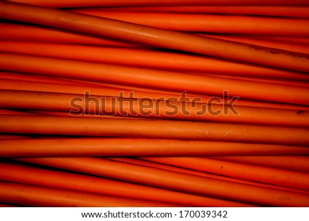 Close-up , electrical wires coil - stock photo