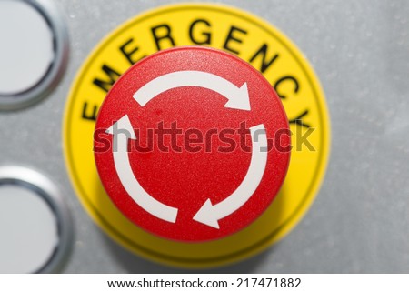 Close up Emergency Button  - stock photo