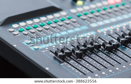 close up equalizer sound controller, selective focus