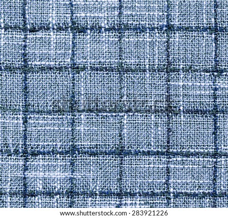 Close-up fabric blue textile texture background  - stock photo