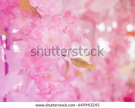 Close fake pink flowers celebrate wedding stock photo 649943245 close up fake pink flowers in the celebrate the wedding on blur colorful backgroundabstract mightylinksfo