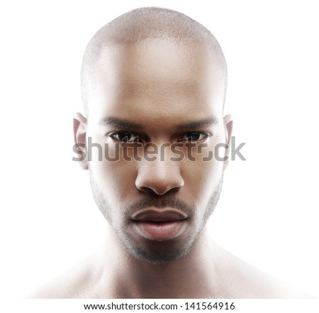 Close up fashion portrait of a male model - stock photo