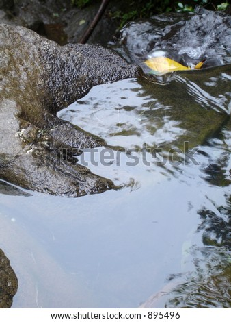 Close-up Flow of Water - stock photo
