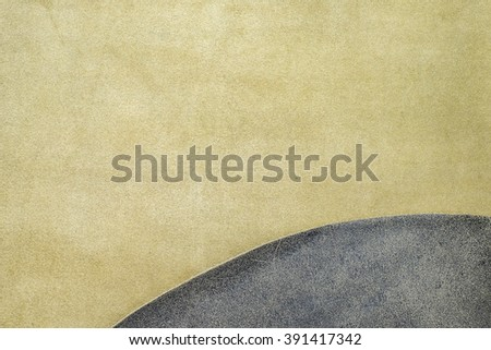 Close up fold grey leather texture background,fabrics Division - stock photo