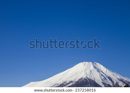 Close up Fuji Mountain in Japan