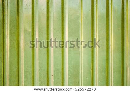 Close Galvanize Wall Yellow Green Color Stock Photo 525572278 ...