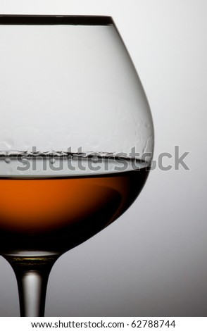 Close up glass of brandy