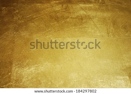 close-up gold background, photographed at an angle - stock photo
