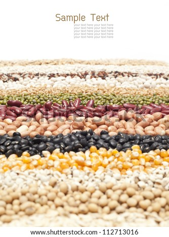close up, Grains on white backgrounds - stock photo