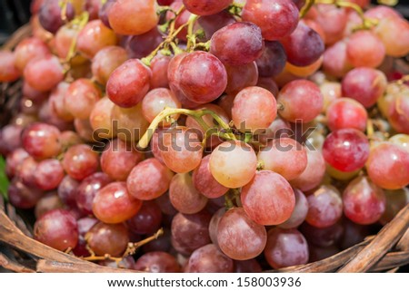 Close up grape on a fruit stall