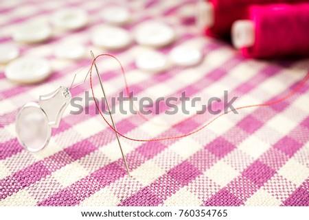 Close Group Sewing Tools Following Sewing Stock Photo & Image ...