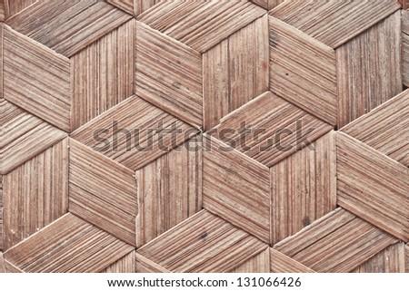 Close up grunge bamboo cross texture - stock photo