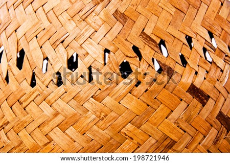 Close up Handmade Straw Hat Isolated on white for background and texture. - stock photo