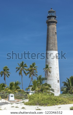 Close-up image of a dry Tortugas lighthouse - stock photo