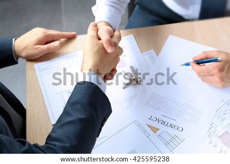 Closeup Image Firm Handshake Between Two Stock Photo 425595238