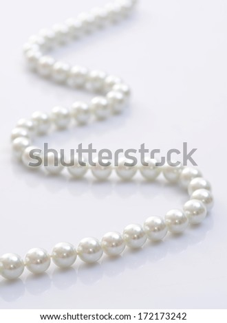 Close-up image of a pearl necklace  - stock photo