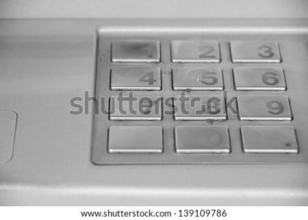 Close up image of a public pay phone keypad - stock photo
