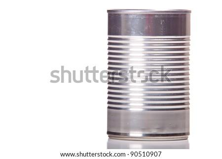 Close up image of a tin can. - stock photo
