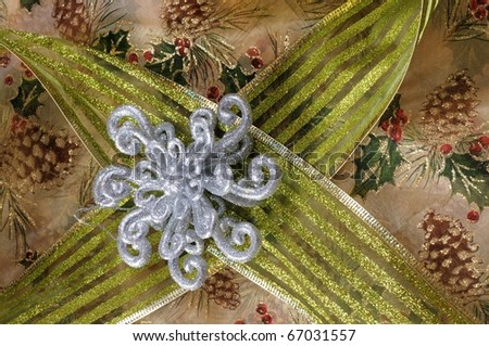 Close up image of Christmas Decorations - stock photo