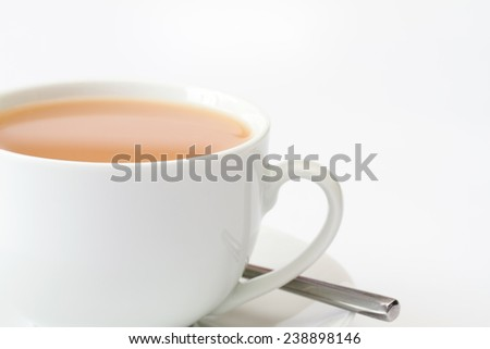 Close up image of cup of tea - stock photo