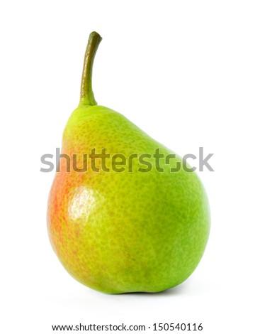 Close up Image of Fresh Ripe Pear Isolated on the White Background - stock photo