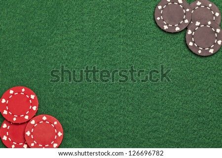 Close up image of Poker chips - stock photo