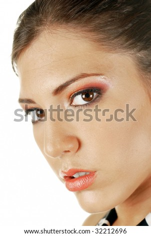 Close up image of smiling woman face