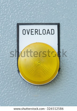 close-up industrial switching button of electric control panel - stock photo