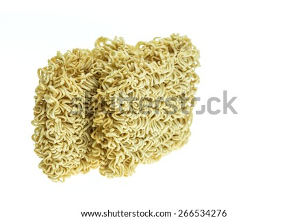 Close up instant noodle isolated on white background - stock photo