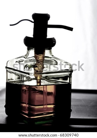 Close up isolated image of soap dispenser