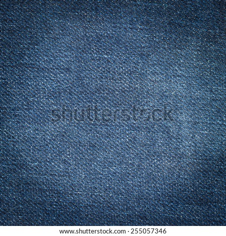 Close up jeans background and texture with space - stock photo
