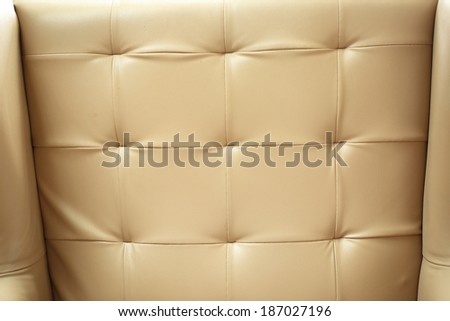 Close up leather sofa background in the hotel - stock photo
