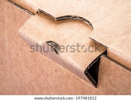 Close up lock Cardboard Box - stock photo