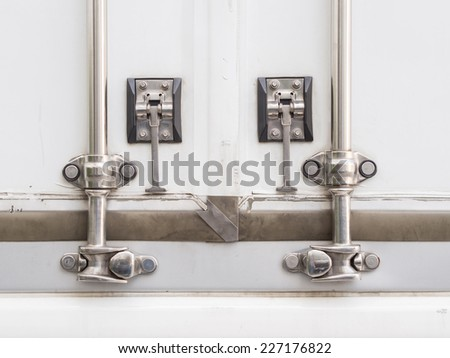 Close up lock of Cargo Truck - stock photo