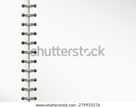 close-up look at elegant blank note book