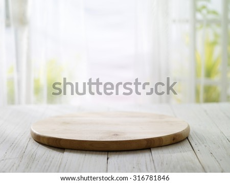 close-up look at wooden board with morning bright