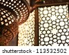 Close up (macro) of an arabic light. - stock photo