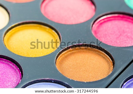 Close up make-up collage - stock photo