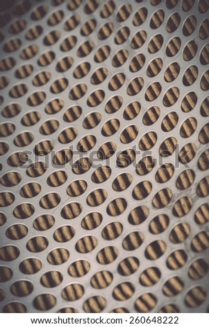 Close up Metal grid of car air filter for background - stock photo