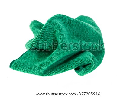 Close up microfiber cloth for cleaning isolated on white background