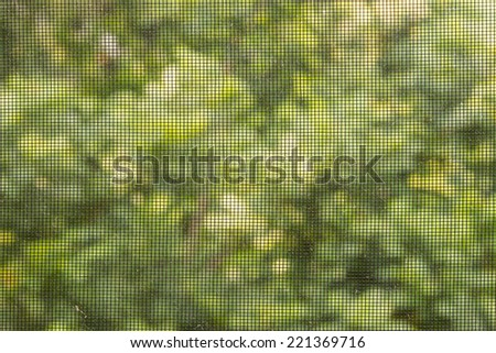 Close up mosquito wire screen - stock photo