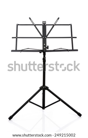 Close up music stand isolated on white background - stock photo