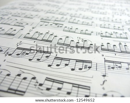 Close-up musical notes sheet