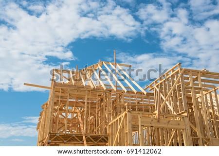 Closeup New Stick Built Home Under Stock Photo (Edit Now)- Shutterstock