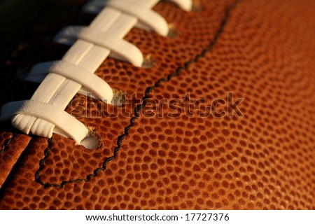 Close up of a american football - stock photo