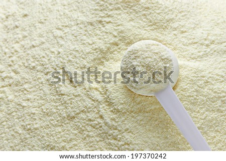 close up of a baby powder milk - stock photo