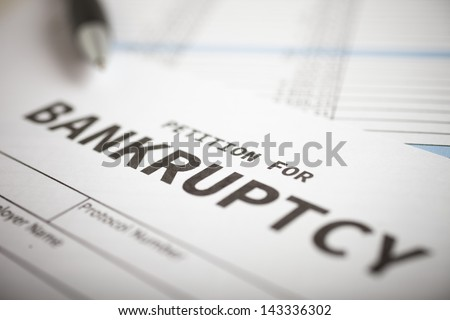 Close-up of a bankruptcy petition - stock photo
