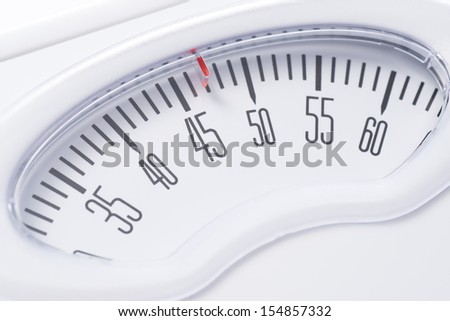 Close-up of a Bathroom scale - stock photo