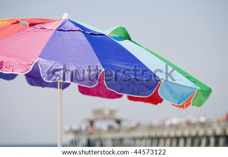 Close-up of a beach umbrella - stock photo